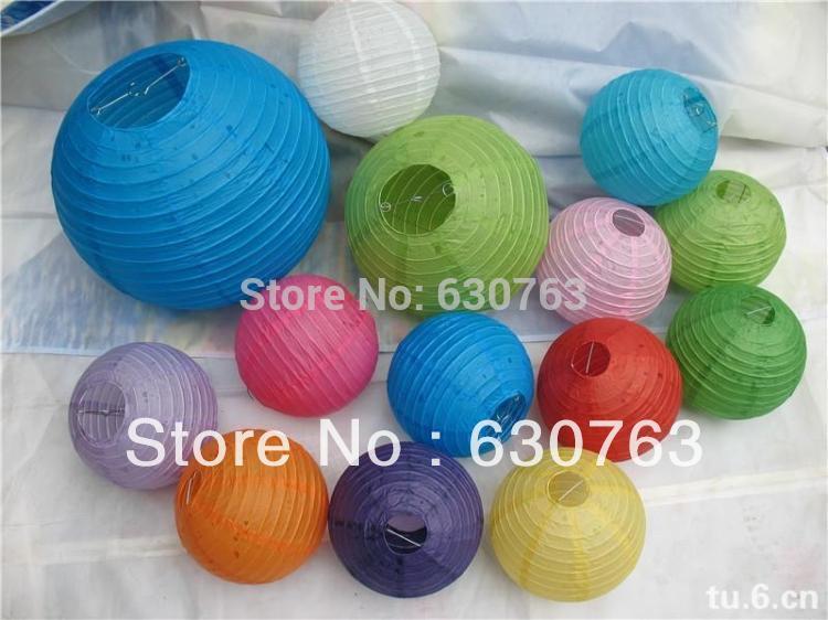 Lot of 20pcs Free Shipping 20CM Chinese Paper Lanterns Balloon lanterns Wedding Party Home & Festival Hanging Decoration Fiesta(China (Mainland))