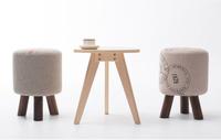 The wholesale promotion,ottoman,wood stool, wood foot cloth art sofa,pure cotton fabric sofa,wood furniture chairs,wait stool