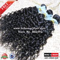 Free Shipping Mike & Mary Malaysian Deep Curly Hair 3pcs/Lot Grade 5a Human Virgin Hair Bundles Natural Color 1b NO SHIDDING