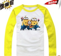 Despicable me 2  Movie  T-shirts  Children's Clothing with  long sleeve