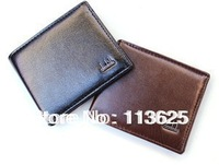 2013 Free shipping new hot-selling high-quality men's super soft leather wallet short wallet