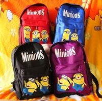 Free Shipping Male Female Child School Bag Sport Hiking Outdoors Backpack Gifts For Children Despicable Me High Quality Banana