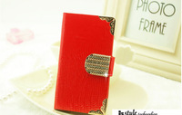 Hot sale  phone case leather for iphone 4,Free Shipping ,MOQ 1 Piece