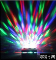 Hot! 3W RGB LED Mini Party Light Dance Party Lamp Holiday Light Auto Rotating E27 full color Bulb for dancing for Christmas gift