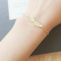 $10 free shipping 2014 Fashion gold silver shamballa bracelet vintage Wings bracelets bangles Jewelry For Women
