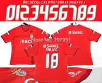 2015 High Thailand Quality Sport Lisboa Soccer Jerseys SLB Red Football Jerseys Lima Quintero enzo Perez Salvio Futebol Camisola
