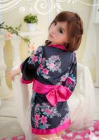 Wholesell and Retail  K015- Japanese sexy Ancient costume pajamas Exotic Apparel - sakura Kimono -sexy free size