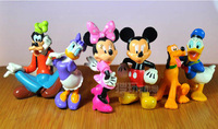 6 PCS Mickey Mouse Toys Minnie Mouse Action Figures Donald Duck Pluto Party Figures WA0012