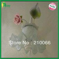 Free Shipping 4pcs/ lot (Including light source E14*1 lighting) Pink rose ceramic flower wall lamp bracket light for corridor