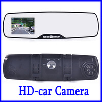 High Quality 2.7 inch Rearview Mirror Car DVR Recorder With Full HD 1080P Super Slim Design  G-sensor Motion Detection 27F