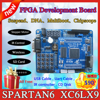 Xilinx FPGA development board with xilinx usb download cable  (Spartan6 XC6SLX9)