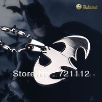 2013 new Titanium Steel jewelry Dark Knight Batman Pendant Fashion Refinement Necklace Fans Favorite Free Shipping