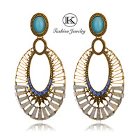 Free Shipping The Latest 2013 High-Quality Women'S Fashion Alloy Pendant Inlaid Transparent Resin Earring E-001