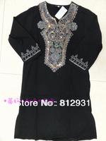 Free Shipping Ram61 Muslim Abaya With Embroidery,Diamond And Hijab/Jilbab,Arabia Dress For Children Islamic Clothing