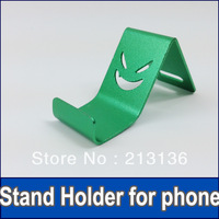 100pcs New Aluminium Metal support little Demon Stents Phone Stand Holder for iPhone 4 4s iPhone 5 5g Galaxy S3 HTC