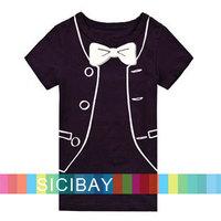 Summer Short Sleeve Tshirts Gentleman Wear Fashion Kids Tops,Free Shipping K0120