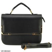 Free Shipping 5 Colors 2014 New Arrival Metal Corner PU Leather Bag Women's Handbag Fashion Briefcase Designer Bags VK1386