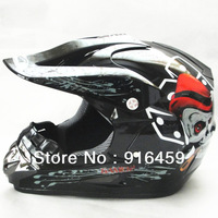 Free shipping 2013 winter motocross helmet off road helmet motorcycle helmet M L XL black white skull WLT moxal helmet