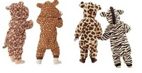 Leopard newborn romper Carter's Infant baby One-Pieces jumpsuit long sleeve cartoon model winter climbing suit toddlers overalls