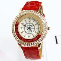 2014 Hot New arrival girls women dress watches Fashion Luxury Brand Diamonds Big Dial heaving sand Wristwatches Free Shipping