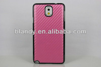 100pcs Free shipping carbon fibre leather stick leather case for samsung galaxy note 3 N9000