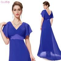 09890  2014 women New Arrival Glamorous Green Double V-Neck Ruffles Padded pink long Evening Dress short sleeves