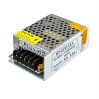 New DC 12V 2A 24W Switching Power Supply Driver 4 LED Strip Light Display AC