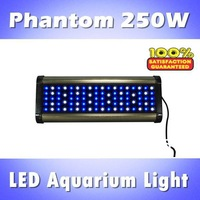 Phantom 250W LED aquarium lightIig programmable, dimmable with controller blue: white =1:1/2:1/1:2 (customizable)