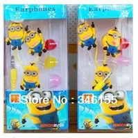 1pcs Despicable Me The Minion Style 3.5mm In-ear Earphone For Various Mobile Phones and Other Digital Devices&Retail Box&Free