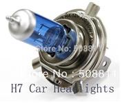 2pcs/lot H7 Super Bright White Fog Halogen Bulb 55W lbue glass headlamp Car Head Lamp Light  free shipping