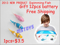 2013 New Robot  fish Fish Free Shipping Fish Electronic Swimming Fish Magical Robot  Activated Turbot electric CLOWNFISH