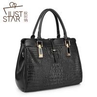 Brief women's casual fashion handbag business casual classic crocodile pattern embossed handbag messenger bag