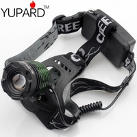 YUPARD FREE SHIPPING Zoom Headlamp LED Torch light CREE XM-L2  2*18650 Head lamp Rechargeable Zoomable 2000Lm super T6
