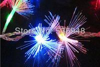 220V EU Plug 10M 100 LED Fiber Optic String Light Twinkle Light for Christmas and Wedding Party Decoration