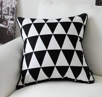 Wholesale Free Shipping!NEW LINE COTON FASHION 45cm*45cm BSL Black & White pillow cushion covers car pillow