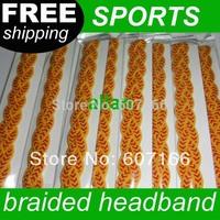 Free Shipping Mix Colors 3-rope triple Braided mini Stretch Softball Sports Headbands