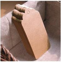 Free shipping Blank price tag Kraft paper Gift tag DIY brown paper kraft label paper TAGGING