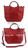 2pcs/lot 2013 Autumn New Listing Korea Woman Handbags Faux Leather OL Style Tote Messenger Shoulder bag Satchel B2 18367