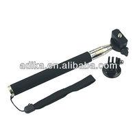 3pcs/lot  Extendable Handheld Aluminum Alloy Flexible Telescopic Monopod Tripod for Go Pro HD Hero1 2 3 SJ4000 Carmera GP55