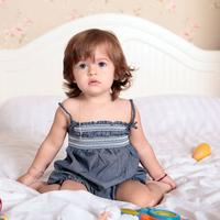 Hot sale 2014 summer baby girl cute sleeveless ruched denim bud dress set,baby girl summer outwear skrit set 100 cotton