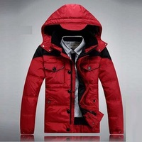 2014  new winter down jackets brand Men's jacket ski hiking outdoor sports suit warm waterproof two piece hoody coat  158