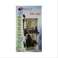 RESUN Brand Marine Aquarium Tank Filtering System Hang on Protein Skimmer 4W 300 L / Hr  55GPH