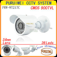 """New Arrival,  900TVL 1/4"""" CMOS  36pcs F5 IR HD Day/night outdoor/indoor waterproof CCTV Camera with bracket.free shipping!"""