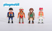 Playmobil Toys 4pcs/lot building mobil blocks figures toys for boys role play games classic toy