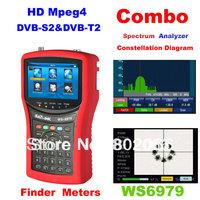 2014 New Arriavel  DVB-S2 & DVB-T2 Combo Meter SIGNAL FINDER WS6979 spectrum constellation satellite meter  terrestrial finder