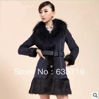 Autumn winter women fur coat Wool fur one piece genuine leather fur women's raccoon fur leather clothing 100% genuine fur vest