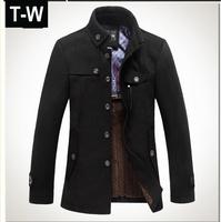 TUWB101101 High Quatity Brand Jacket for men coats casual mens thicken woolen men's jacket winter men overcoat