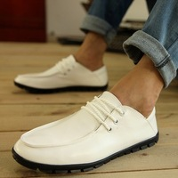 Free shipping 2014 formal casual leather foot wrapping fashion shoes lazy male soft leather shoes