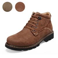 2013 Winter cotton boots, men's snow boots, crazy horse leather lace shoes,  outdoor men boots,  Male high shoes