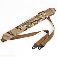 Hot selling High quality Hot sale Durable Adjustable Rigid Nylon Webbing Thicken Waist Belt Weight-bearing Gun Sling -Camouflage